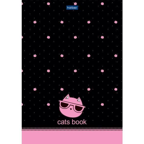 Premium Блокнот 50л А5ф 70г/кв.м В точечку отрывная склейка Обложка мел.бумага глянц. ламинация серия -CATs-