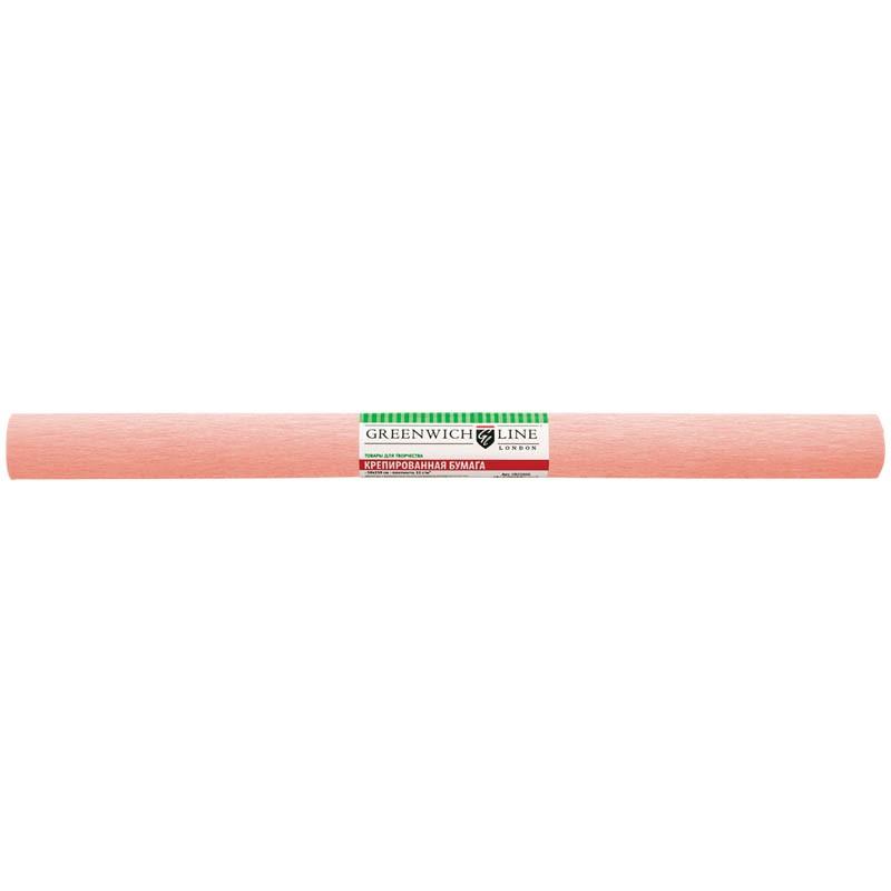 Бумага крепированная Greenwich Line, 50*250см, 32г/м2, персиковая, в рулоне