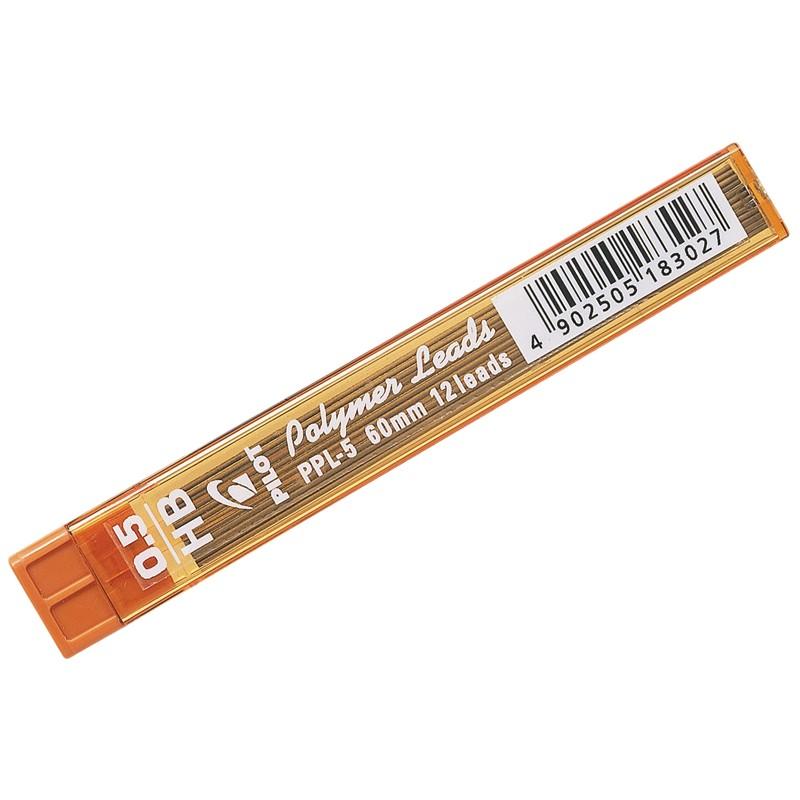 Грифели для механических карандашей Pilot, 12шт., 0,5мм, HB