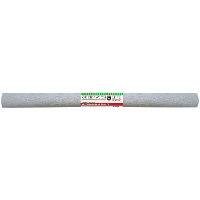 Бумага крепированная Greenwich Line, 50*250см, 22г/м2, серебряная, в рулоне