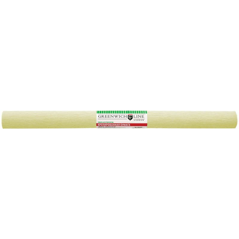 Бумага крепированная Greenwich Line, 50*250см, 32г/м2, шампань, в рулоне