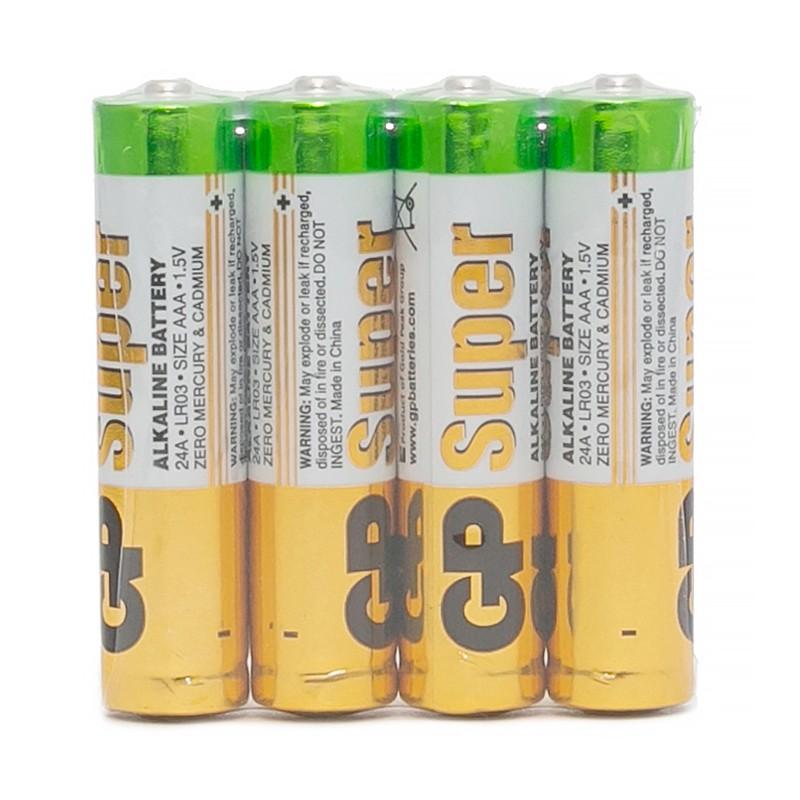 Батарейка GP Super AAA (LR03) 24A алкалиновая, SB4