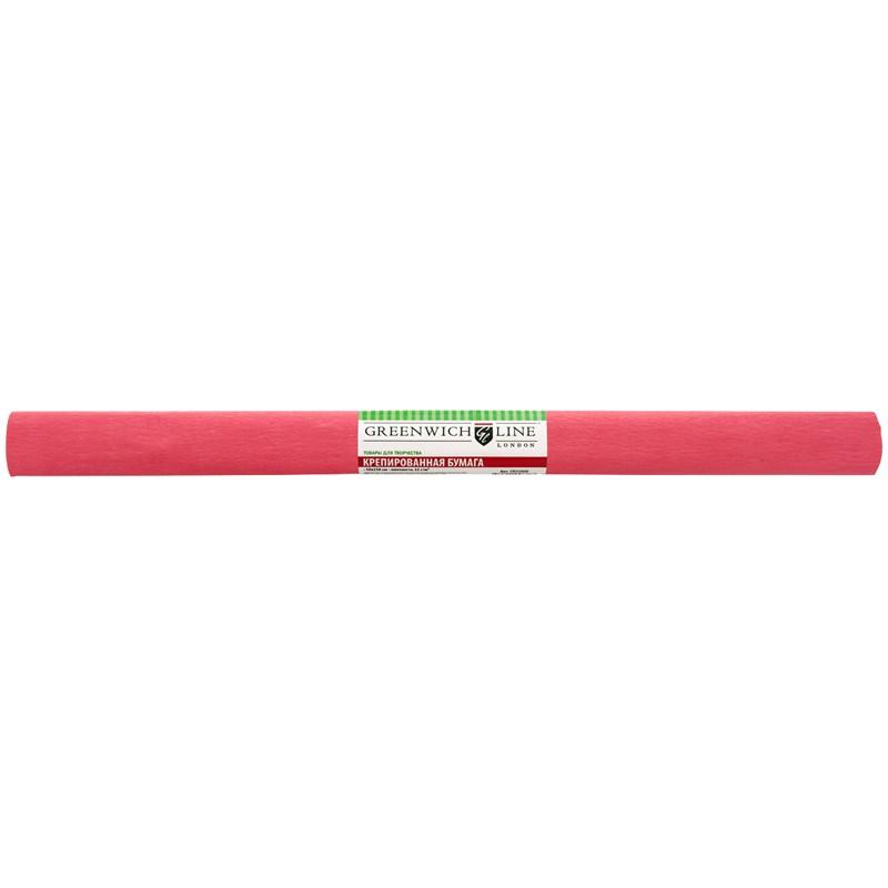 Бумага крепированная Greenwich Line, 50*250см, 32г/м2, темно-коралловая, в рулоне