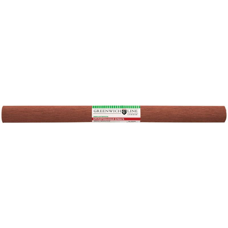 Бумага крепированная Greenwich Line, 50*250см, 32г/м2, коричневая, в рулоне