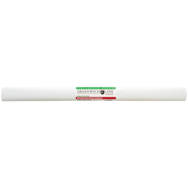 Бумага крепированная Greenwich Line, 50*250см, 32г/м2, белая, в рулоне