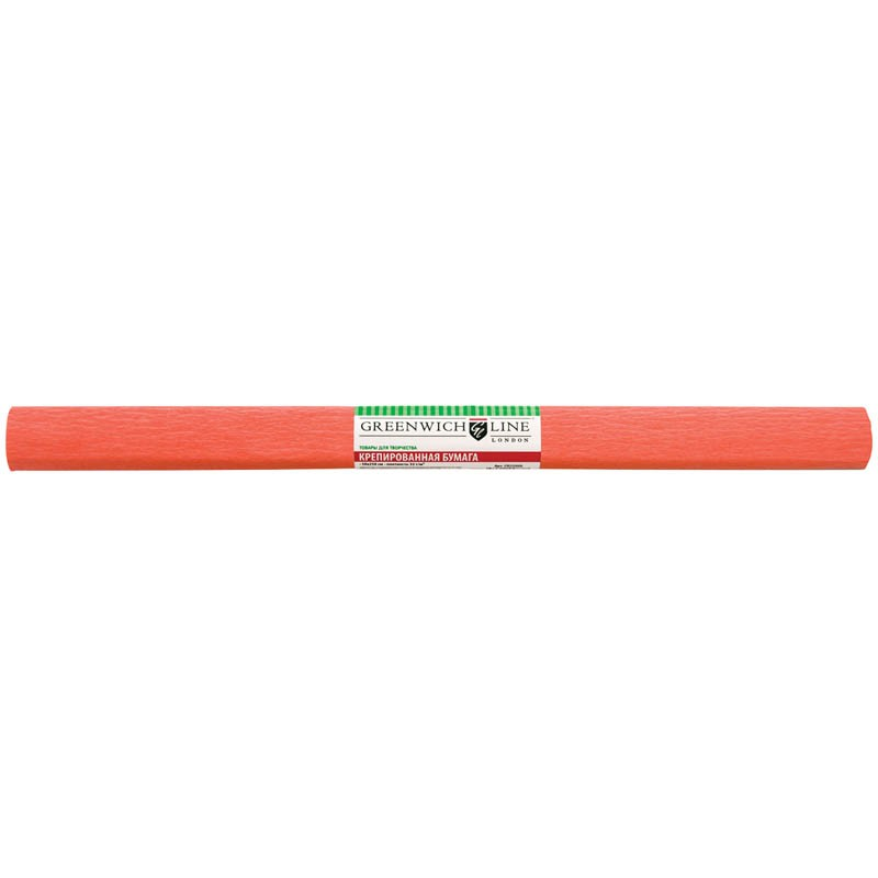 Бумага крепированная Greenwich Line, 50*250см, 32г/м2, лосось, в рулоне