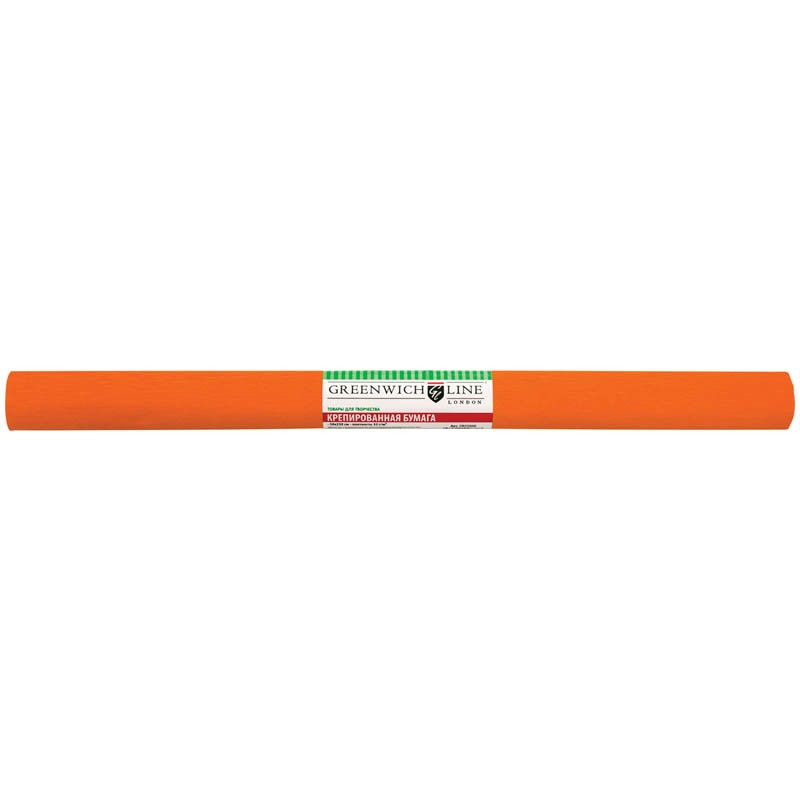 Бумага крепированная Greenwich Line, 50*250см, 32г/м2, оранжевая, в рулоне