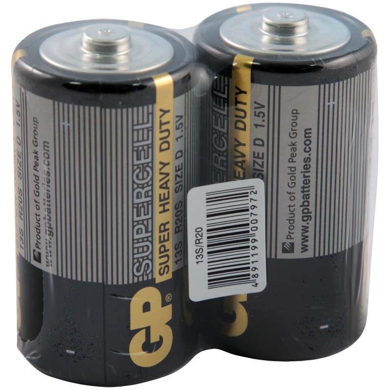 Батарейка GP Supercell D (R20) 13S солевая, OS2