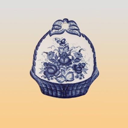 Гжель Доска сырная Букет в корзине